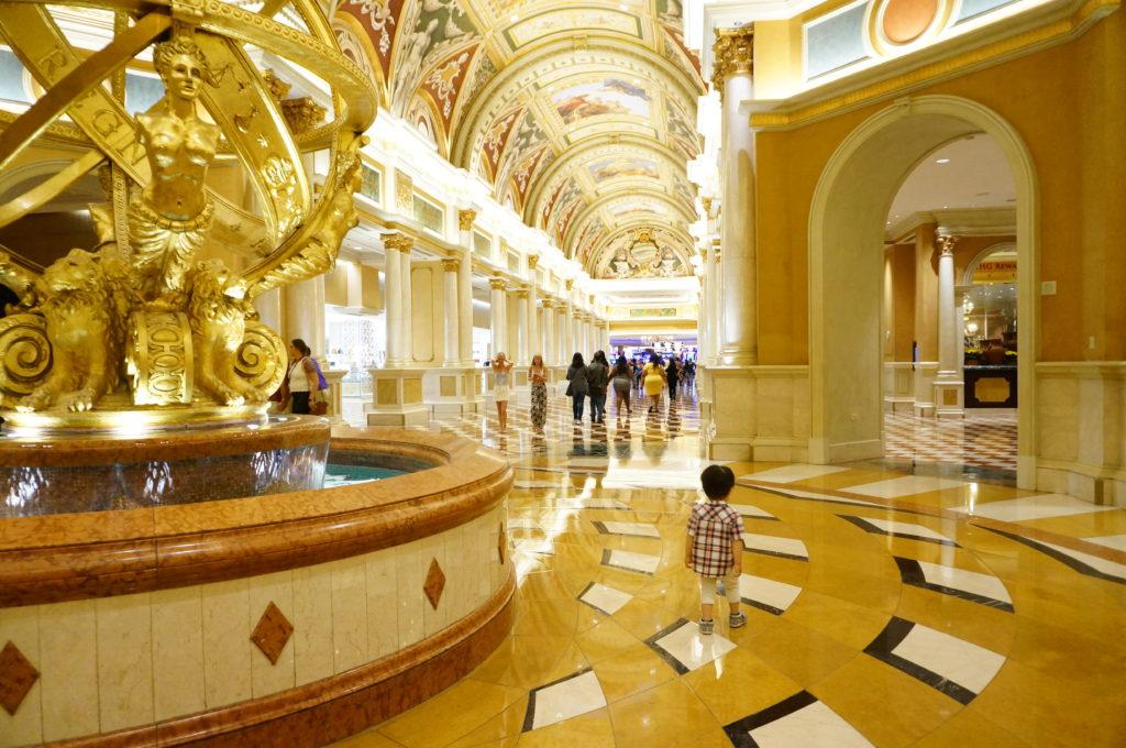 ベネチアン:カジノへの廊下