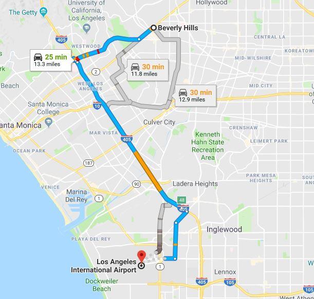 LAXまでの道順