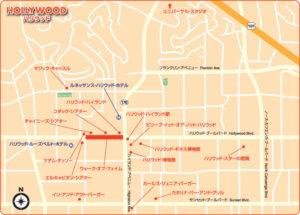 地図:ハリウッド地区