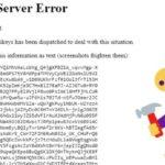 500 Internal Server Error - top